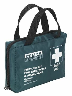Sealey SFA02 Compact Travel First Aid Kit for Vehicles BS8599-2 Compliant