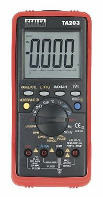 Sealey Automotive Digital Multimeter 15 Function Bar Graph/PC Link TA203