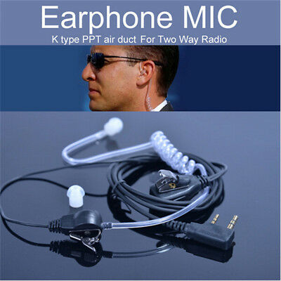 New 2Pin Security Air Tube Headset Earpiece Earphone Mic for Walkie Talkie Radio