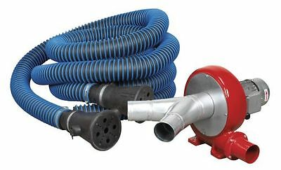 Sealey Exhaust Fume Extraction System 230V 370W Twin Duct EFS102