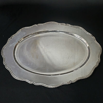 "Antique Shreve & Co., Sterling Silver, Marie Louise, 20"" Serving Platter 8980"