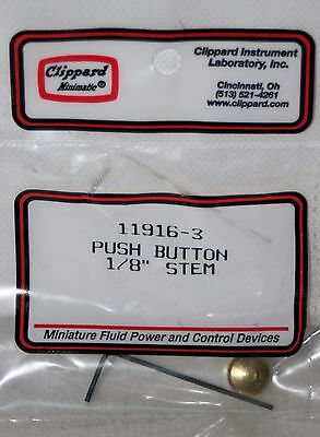 "1/8"" Stem Push Button  Clippard 11916-3"