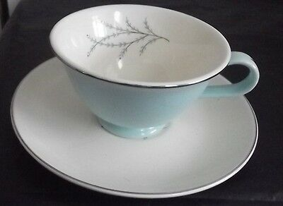 Taylor Smith & Taylor Blue Twig Cup & Saucer