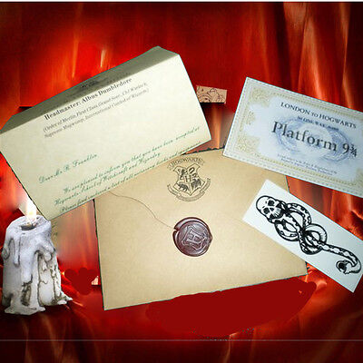 Acceptance Letter Harry Potter Hogwarts for HP fans PERSONALISED +Free Tattoo