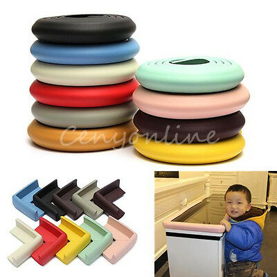 2m Baby Table Desk Edge Guard Soft Foam Protector Bumpers + 4 Corners Protector