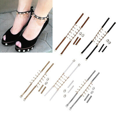 Detachable Removable Shoe Straps Crystal Chain for Holding Loose Shoe High Heels
