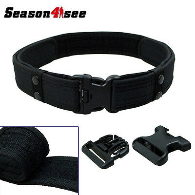 """SWAT 2"""" Inch Tactical Combat Train Police Duty Military Army Belt Black"""
