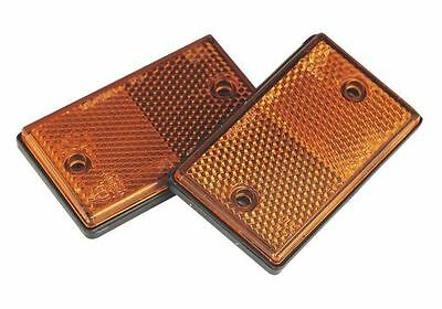 Sealey Reflex Reflector Amber Oblong Pack of 2 TB25