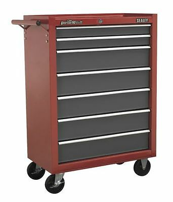 Sealey Rollcab 7 Drawer with Ball Bearing Runners Red/Grey AP22507BB