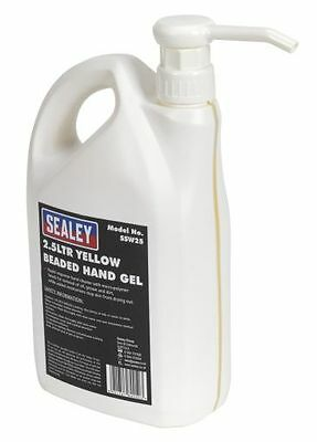 Sealey Yellow Beaded Hand Gel 2.5ltr SSW25