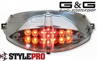 Led Rear Light With Indicator And E-Test Symbol For Peugeot Speedfight 2