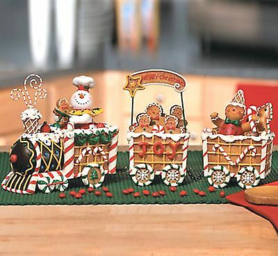 gingerbread express christmas train shelf decoration new in box