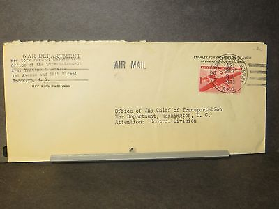 APO 522 TUNIS, TUNISIA 1943 Official WWII Army Cover ATS