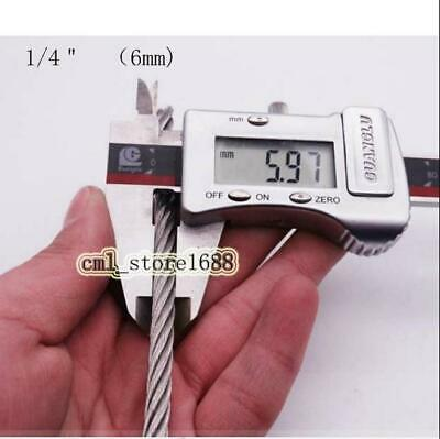 "1/4"" 7x19 Stainless Steel 304 Cable Wire Rope"