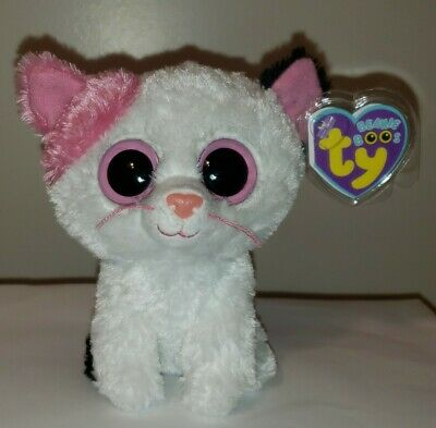 """Ty Beanie Boos ~ MUFFIN the 6"""" Cat (Solid Eyes Version) ~ MINT with MINT TAGS"""