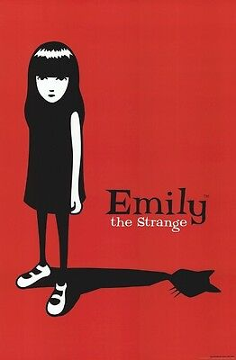 EMILY THE STRANGE POSTER ~ SHADOW CAT 24x36 Cartoon Comic Book