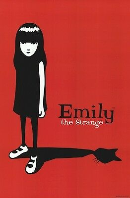 EMILY THE STRANGE ~ SHADOW CAT 24x36 POSTER Cartoon Comic Book NEW/ROLLED!