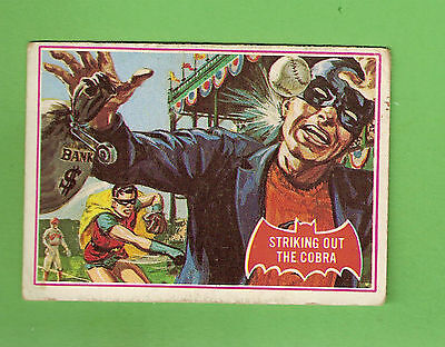 Scanlens 1966 Batman Red Bat Card #27A  Striking Out The Cobra