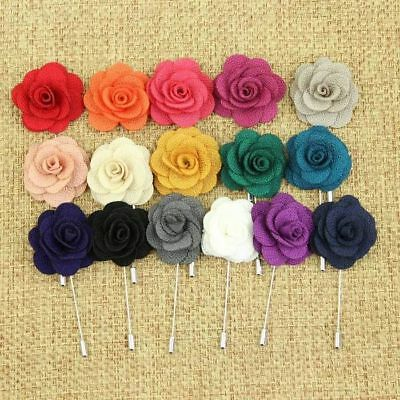 Handmade Flower Daisy Boutonniere Brooch Lapel Pin Accessories For Men's Suit