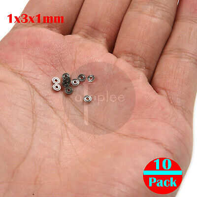 10pcs 681ZZ  (1x3x1mm) Miniature Mini Ball Bearings Metal Open Micro Bearing
