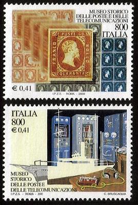 Italy Mnh 2000 Sg2616-2617 Museum Of Posts & Telecommunications Set Of 2