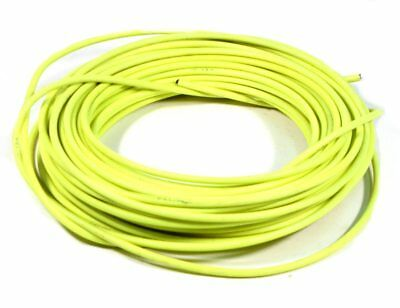 YELLOW BICYCLE BIKE TEFLON LINED BRAKE CABLE HOUSING BY FOOT W//FERRULES /& CRIMPS