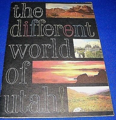 Vintage 1960s The Different World of Utah! Book-History, Culture, Parks, Outdoor