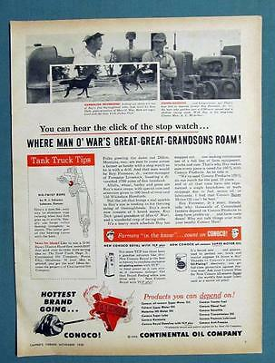 Original 1958 Conoco Ad Photo Endorsed by Roy Forrester of Dillon Montana