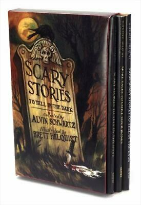 SCARY STORIES TO TELL IN THE DARK BOXED SET of 3 books NEW children's Halloween