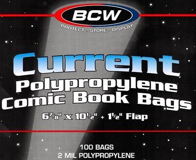 BCW Current Comic Book Bags and Boards 100 Each