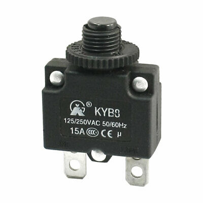 Industrial Use 15A Rating 2 Terminals Circuit Breaker Overload Protector