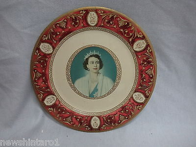 #aa.  Queen Elizabeth Ii & Duke Of Edinburgh Metal Display Plates