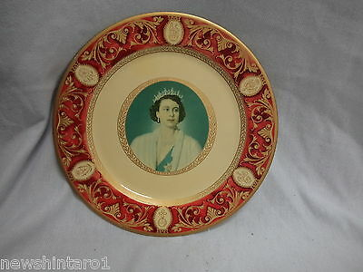 #bb.   Queen Elizabeth Ii & Duke Of Edinburgh Metal Display Plates