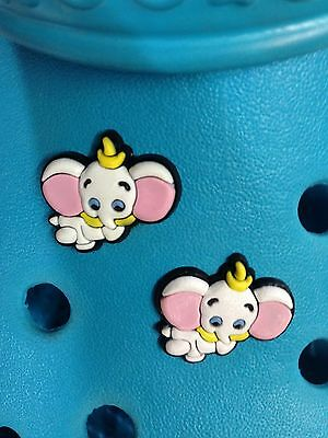 2 Dumbo Shoe Charms For Crocs & Jibbitz Wristbands. Free UK P&P
