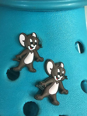 2 Jerry Mouse (Tom & Jerry) Shoe Charms For Crocs & Jibbitz Wristband