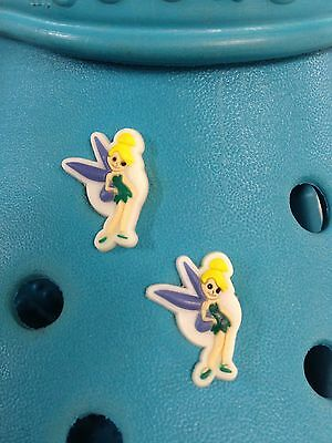 2 Tinkerbell Shoe Charms For Crocs & Jibbitz Wristbands. Free UK P&P