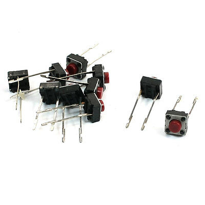 Momentary Action 2 Terminals Micro PCB Tact Push Button Switch 6x6x5mm 10 Pcs
