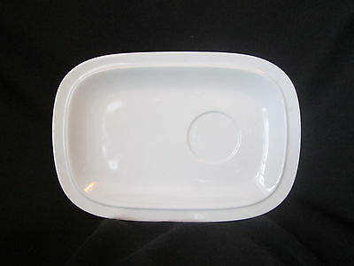 Denby WHITE SQUARE - Buffet Saucer - BRAND NEW