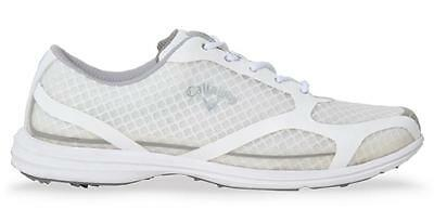 Callaway Ladies Solaire Golf Shoes - Medium Width - White/Silver - W491-17