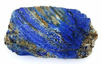 222.9 Grams Thick Cut Lapis Lazuli Lazurite Slice Slab Cab Cabochon Rough 17-102