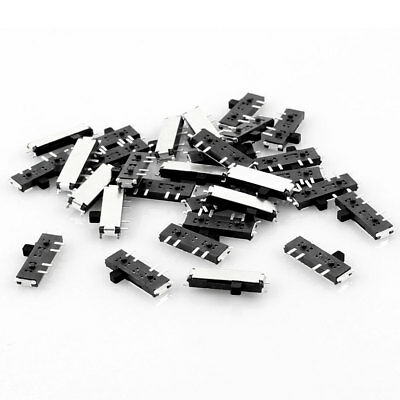 30pcs On/Off/On 3-Position 8-Pin DPDT Mini SMD SMT Slide Switch 10mm x 3mm