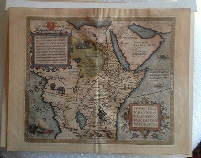 Rare Authentic Ortelius Map of Africa 1579 PRESBITERI JOHANNIS ABISSINORUM