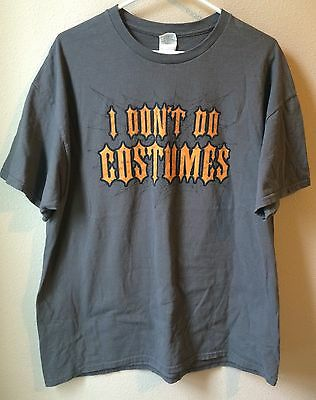 "Men's Graphic ""I Don't Do Costumes"" Halloween Shirt, Size XL."