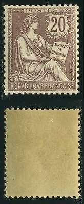 "FRANCE STAMP TIMBRE N126 ""TYPE MOUCHON RETOUCHE 20c BRUN-LILAS 1902"" NEUF xx TTB"