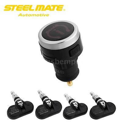 Steelmate TPMS Bluetooth Tire Pressure Monitor System For iPhone Android 4Sensor