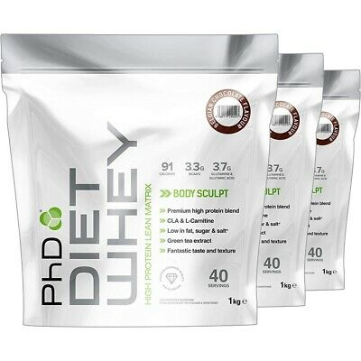 PhD Nutrition Diet Whey Protein Weight Loss All Flavour 1Kg X2 = 2Kg Slimming