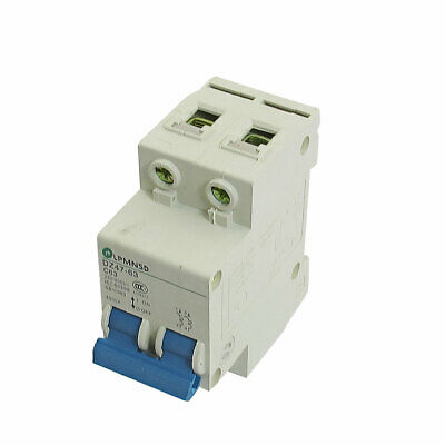 DIN Dail 2P Overload Proetction Circuit Breaker 230/400VAC 63A 4500A DZ47-63 C63