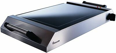 "Fulgor La Scappi 20"" Stainless-Steel Ceramic Glass Indoor/Outdoor Electric Grill"