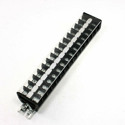 660V 30A 15 Positions Rail Mount Covered Screw Terminal Strip Block