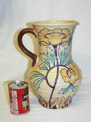 "Large 12.5"" Royal Cauldon Edith Gater tubelined jug."